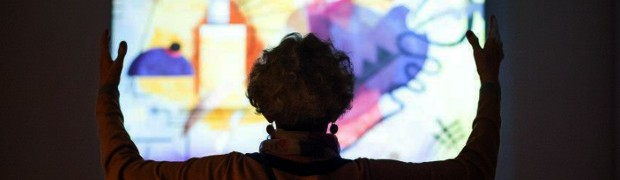 Installation: Matrice Active, an interactive canvas based on the work of the painter Wassily Kandinsky